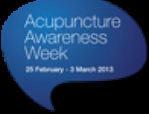 Acupuncture Awareness Week 2013
